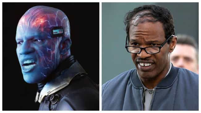 Jamie Foxx is listed (or ranked) 4 on the list The Rubberiest CGI Re-Creations Of Actors' Faces In Movies