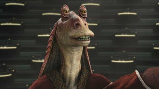 Jar Jar Binks is listed (or ranked) 1 on the list What Your Favorite Fictional Characters Say About You, According To Science