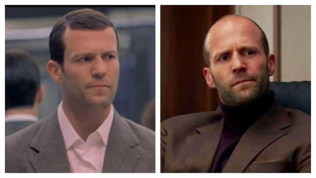 Jason Statham is listed (or ranked) 3 on the list Hairpieces On Iconically Bald Actors, Ranked By Degree Of Blasphemy