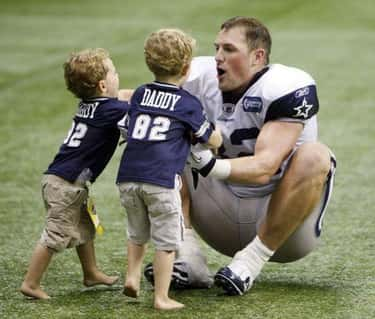 Jason Witten Gets Tackled by H is listed (or ranked) 6 on the list Adorable Pictures of NFL Players Caught Being Dads