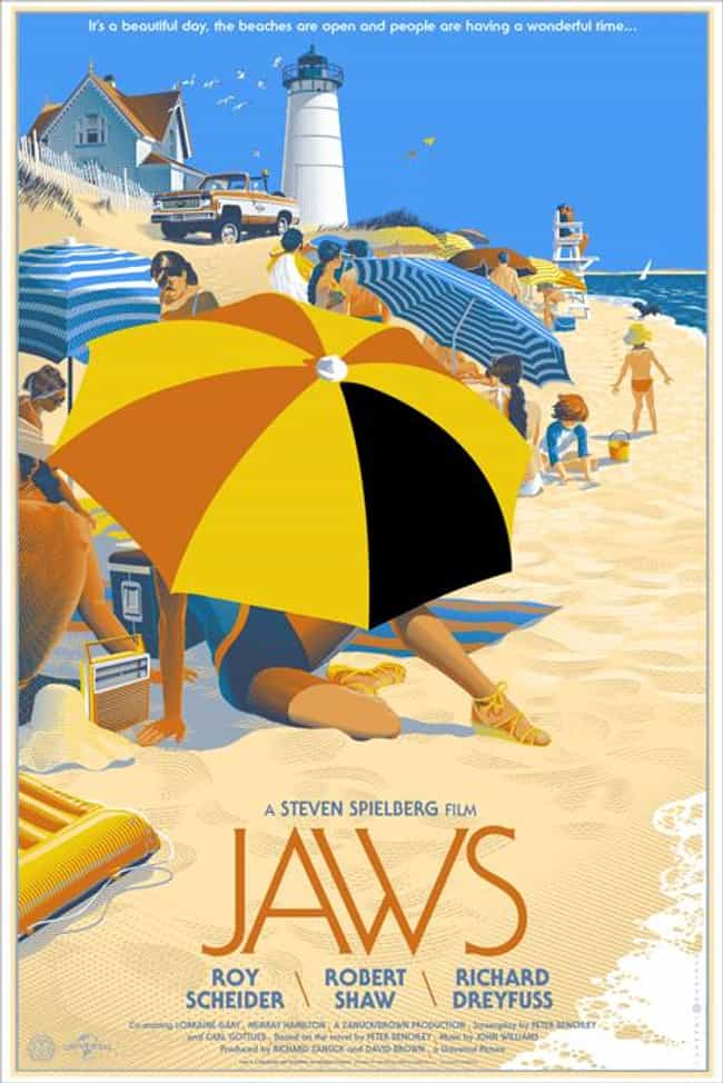 Jaws is listed (or ranked) 4 on the list The Best Mondo Movie Posters (From The Alamo Drafthouse)