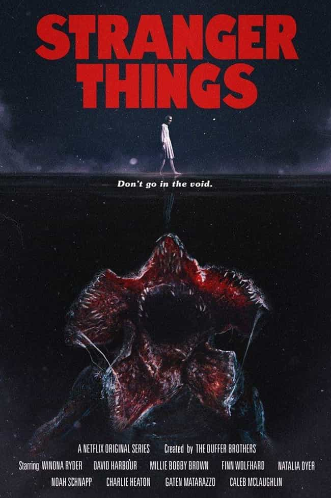 Jaws is listed (or ranked) 1 on the list '80s Inspired Stranger Things Posters