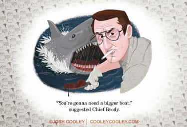 Jaws is listed (or ranked) 1 on the list An Artist From Pixar Transforms Your Favorite Horror Movies Into Kids' Books