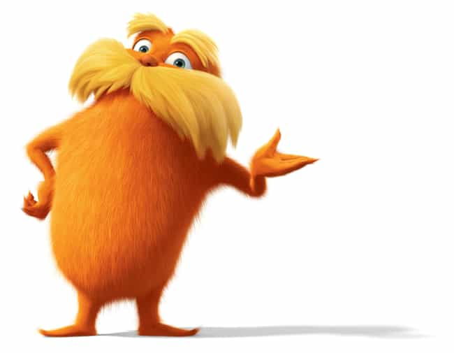 The Lorax is listed (or ranked) 4 on the list The Best Mustaches in Film