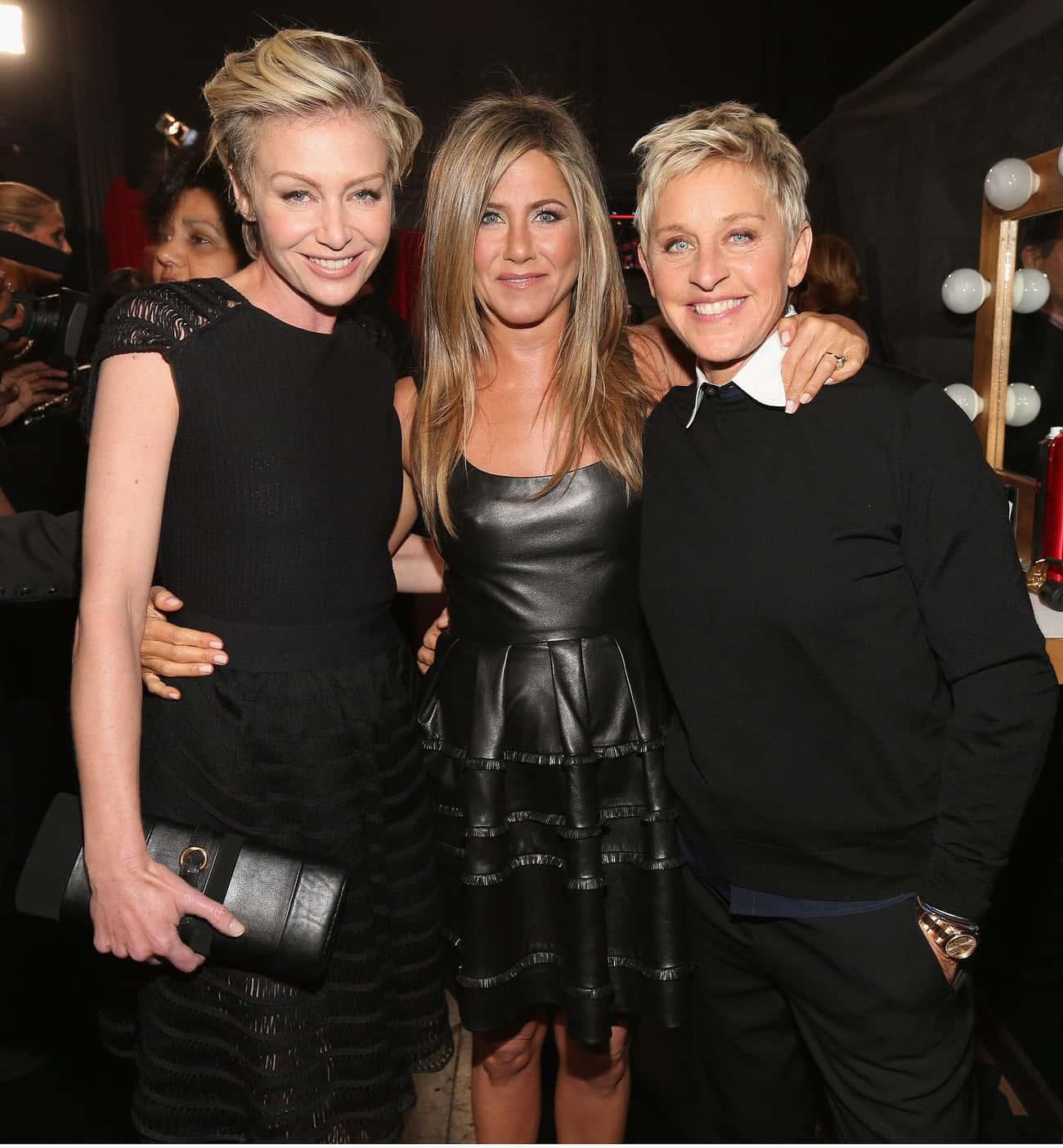 Jennifer Aniston is listed (or ranked) 1 on the list Famous Friends of Ellen DeGeneres
