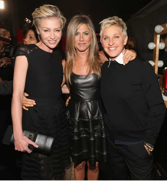 Jennifer Aniston is listed (or ranked) 1 on the list Famous Friends of Ellen DeGeneres