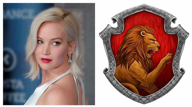 Jennifer Lawrence is listed (or ranked) 4 on the list Which Hogwarts Houses Would Celebrities Be Sorted Into?