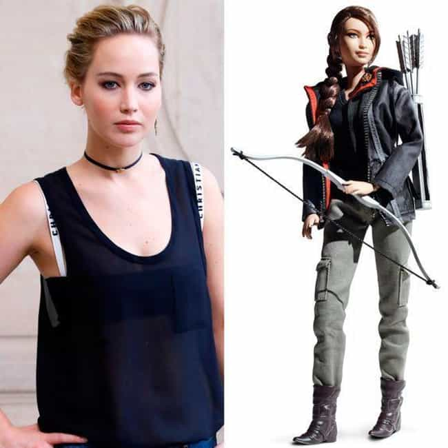 Jennifer Lawrence is listed (or ranked) 3 on the list The Most Accurate Celebrity Barbie Dolls