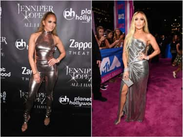 Jennifer Lopez: One Leg Out is listed (or ranked) 2 on the list Celebrities With Signature Poses They Pull For Photographs