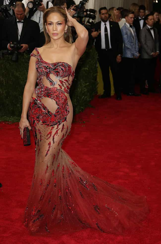 Jennifer Lopez is listed (or ranked) 3 on the list The Most Shockingly Over-the-Top Celebrity Sheer Dresses