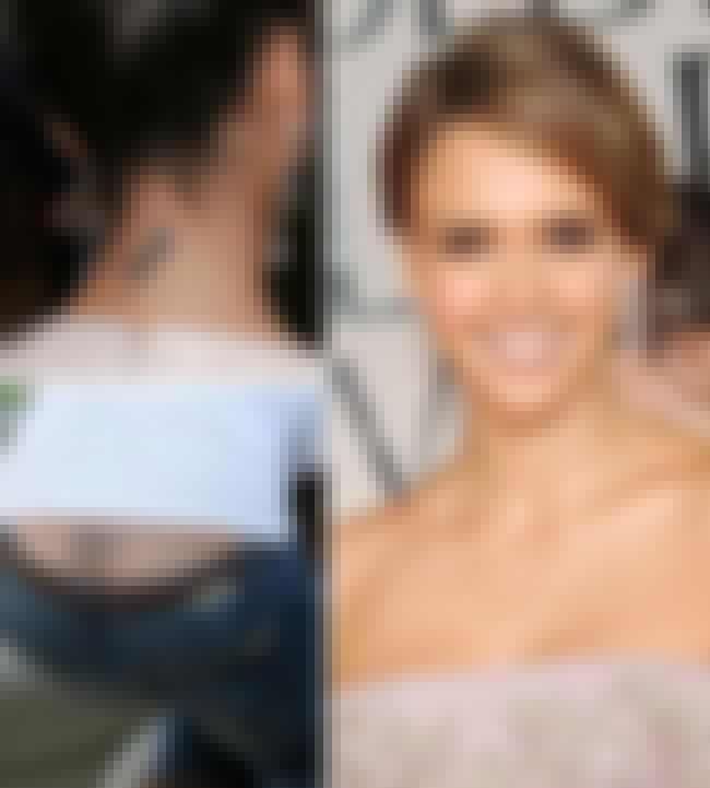 Jessica Alba is listed (or ranked) 2 on the list The 25 Sexiest (Famous) Girls with Tattoos