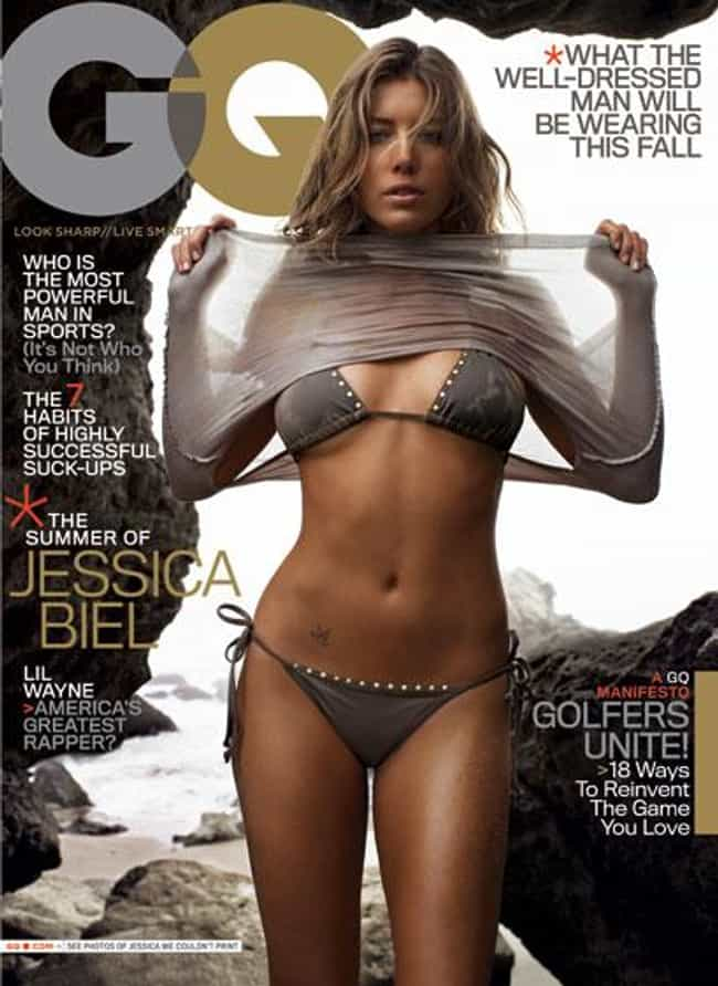 Jessica Biel is listed (or ranked) 1 on the list Hottest GQ Cover Girls of All Time ?