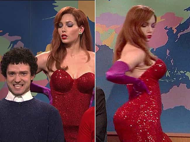 Jessica Biel is listed (or ranked) 3 on the list Celebrity Jessica Rabbit Look Alikes
