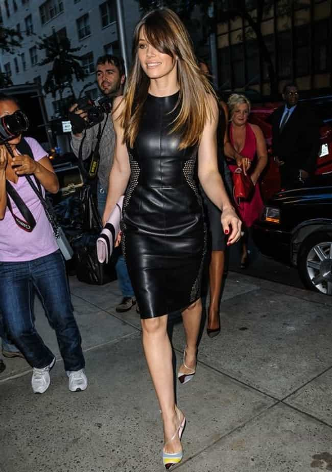 Jessica Biel is listed (or ranked) 1 on the list The Hottest Babes in Black Leather