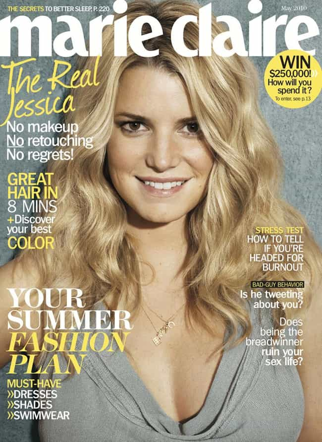 Jessica Simpson is listed (or ranked) 4 on the list Un-Retouched Photos of Famous Celebrities
