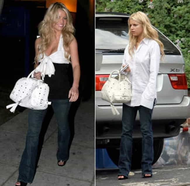 Jessica Simpson is listed (or ranked) 2 on the list Caught in the Act: Best Celebrity Walk of Shame Pics