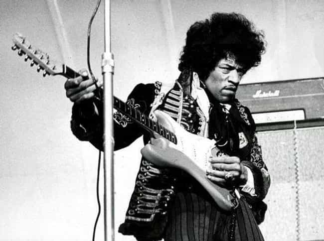 Jimi Hendrix is listed (or ranked) 4 on the list Famous Penises That Went Down in History