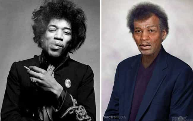 Jimi Hendrix is listed (or ranked) 8 on the list This Artist Imagined How These Dead Rock Stars Would Look If They Were Still Alive Today
