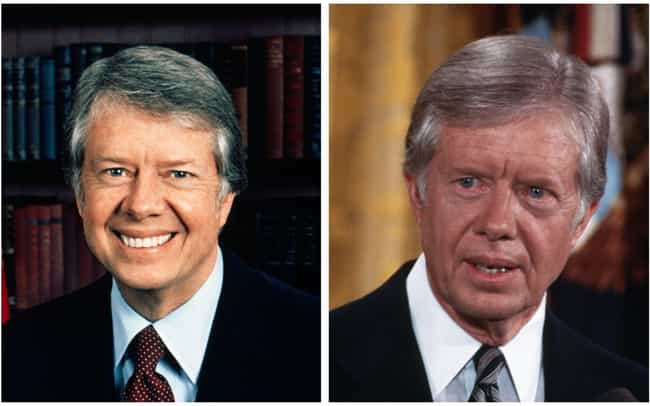 Jimmy Carter is listed (or ranked) 8 on the list How 14 Presidents Looked At The Start And The End Of Their Presidencies