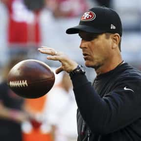 Jim Harbaugh is listed (or ranked) 2 on the list List of Famous Football Coaches