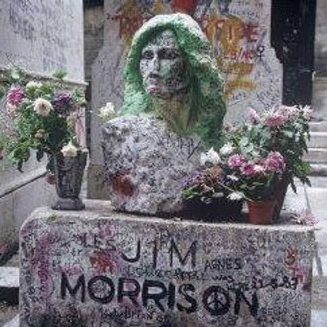 Jim Morrison is listed (or ranked) 2 on the list Rock Stars with the Coolest Tombstones