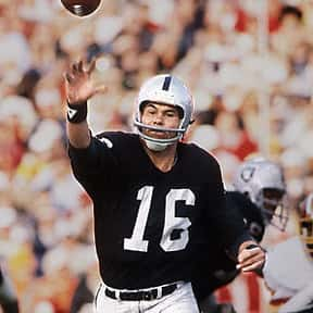 Jim Plunkett is listed (or ranked) 17 on the list The Best NFL Quarterbacks of the 1970s