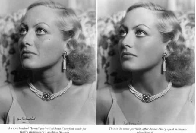 Joan Crawford is listed (or ranked) 2 on the list Doctored Photos Of Old Movie Stars Photoshopped Before Photoshop