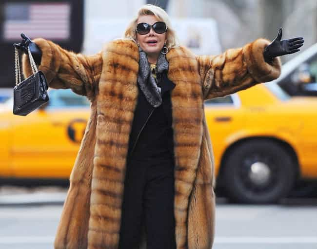 Joan Rivers is listed (or ranked) 2 on the list The Best Fur Coats in Pop Culture
