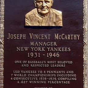 Joe McCarthy is listed (or ranked) 15 on the list Famous Niagara University Alumni