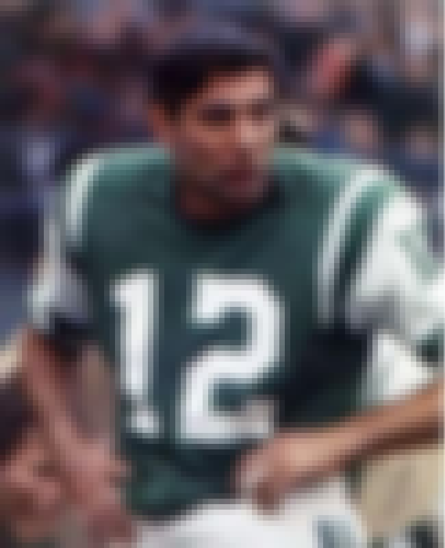 Joe Namath is listed (or ranked) 3 on the list The Greatest Quarterbacks of the 1960's