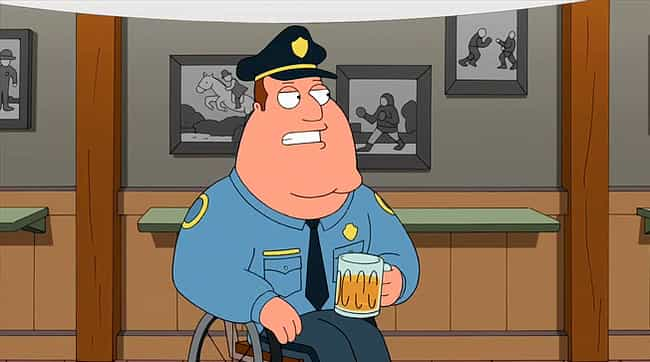 Joe Swanson is listed (or ranked) 1 on the list Which 'Family Guy' Character Are You According To Your Zodiac Sign?