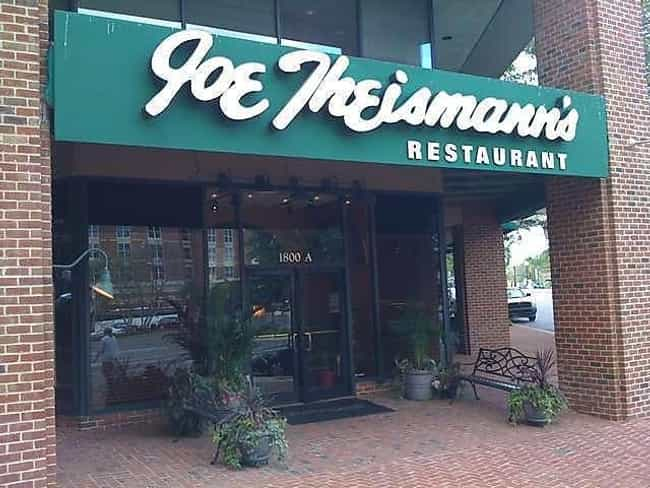Joe Theismann is listed (or ranked) 8 on the list Athletes Who Own Restaurants