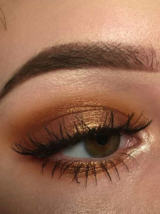 Bronze is listed (or ranked) 3 on the list The 10 Best Eyeshadow Colors for Hazel Eyes