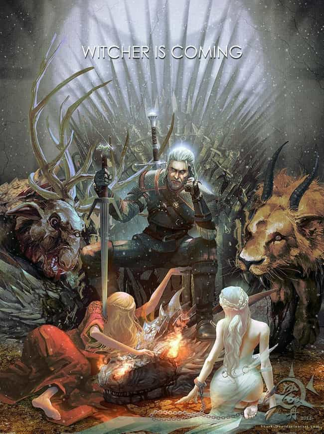 Game of Thrones is listed (or ranked) 2 on the list 16 Extremely Cool 'Witcher' Fan Art Mash-Ups