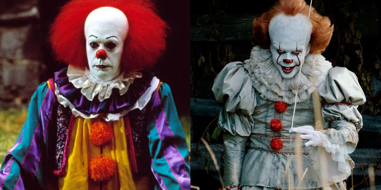 Pennywise the Dancing Clown (I is listed (or ranked) 4 on the list Famous Villains Whose Looks Have Totally Changed