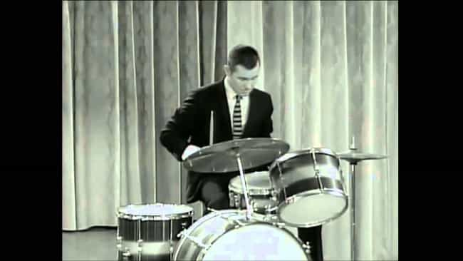 Johnny Carson is listed (or ranked) 3 on the list 21 Celebrities Who Play Drums