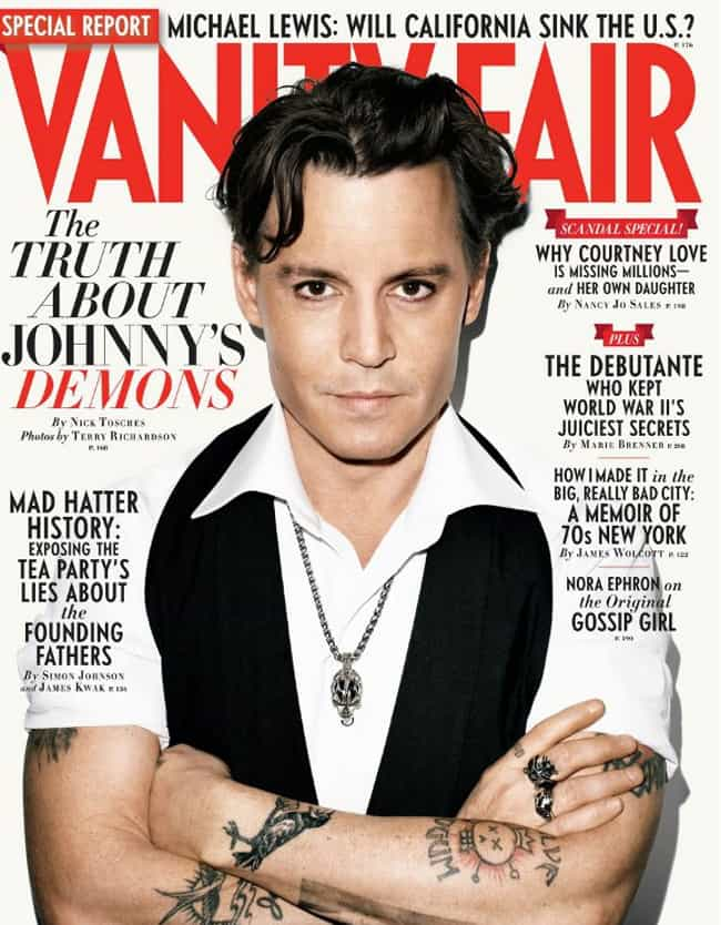 Johnny Depp is listed (or ranked) 2 on the list The Best Vanity Fair Covers