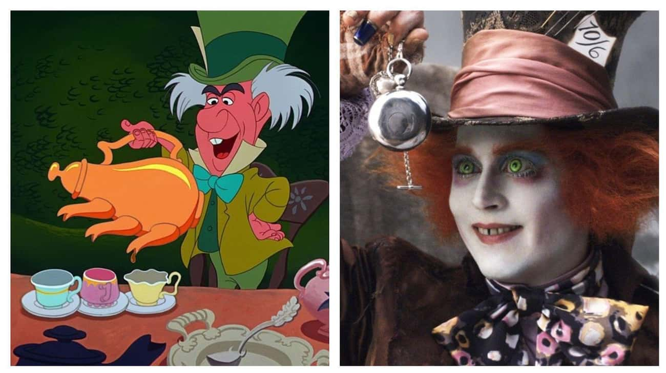 Johnny Depp As The Mad Hatter is listed (or ranked) 2 on the list Actors Who Played Animated Disney Characters