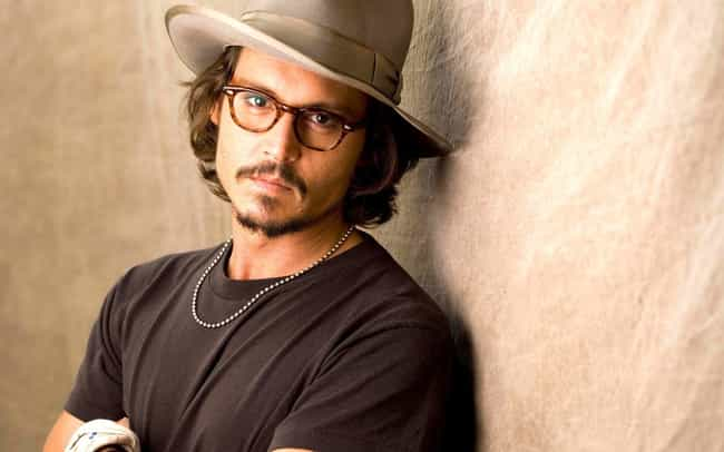 06234e0595 Johnny Depp is listed (or ranked) 3 on the list 35 Celebrities with Glasses