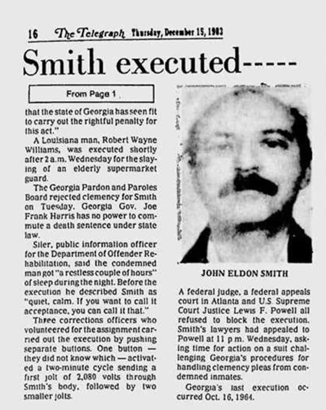 John Eldon Smith is listed (or ranked) 4 on the list Jokes Told by Death Row Inmates Right Before Execution