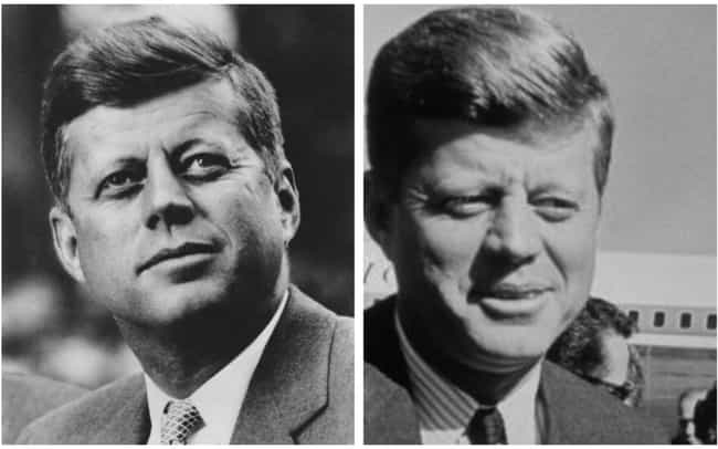 John F. Kennedy is listed (or ranked) 1 on the list How 14 Presidents Looked At The Start And The End Of Their Presidencies