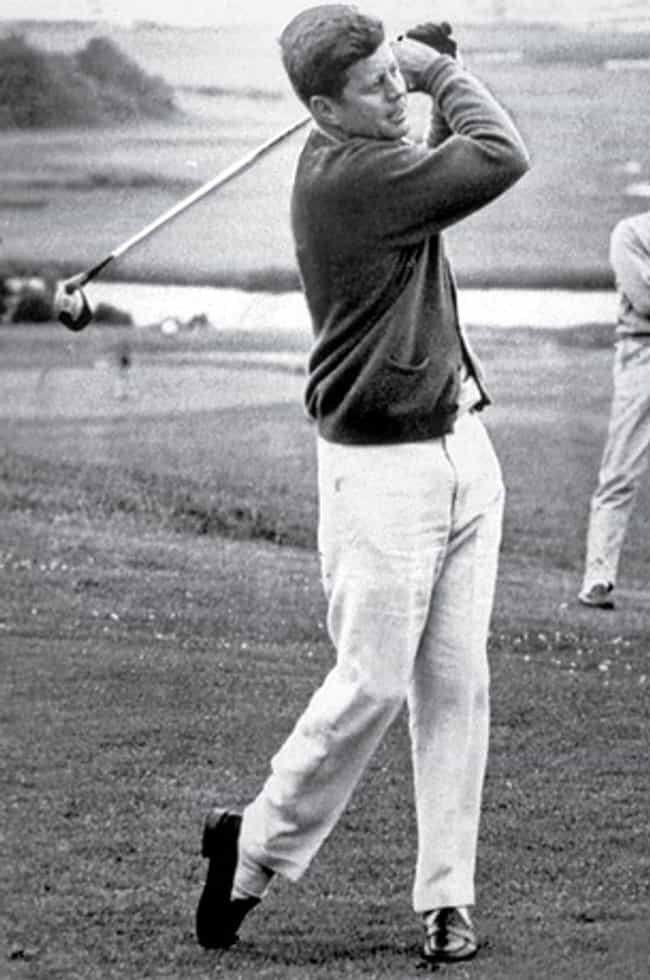 John F. Kennedy is listed (or ranked) 7 on the list All the Golfing Presidents