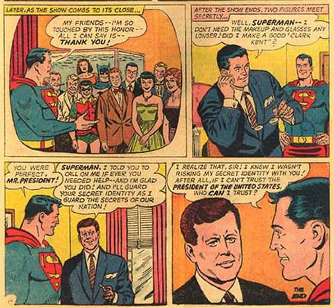 John F. Kennedy is listed (or ranked) 4 on the list 29 Celebrities Who Have Shown Up In Comic Books