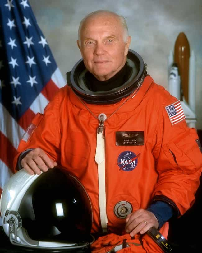 John Glenn is listed (or ranked) 4 on the list Famous Male Naval Aviators