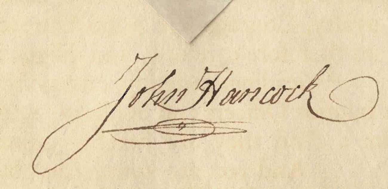 John Hancock is listed (or ranked) 2 on the list The Coolest Celebrity Autographs