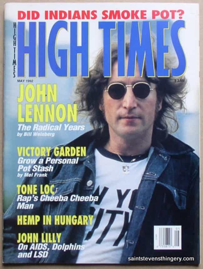 John Lennon is listed (or ranked) 1 on the list The Best High Times Covers