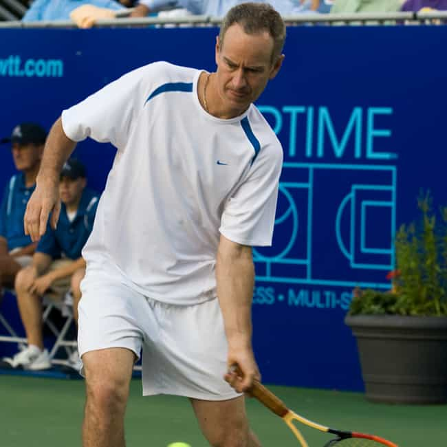 John McEnroe is listed (or ranked) 2 on the list 23 Celebrities Who Were Born on Military Bases