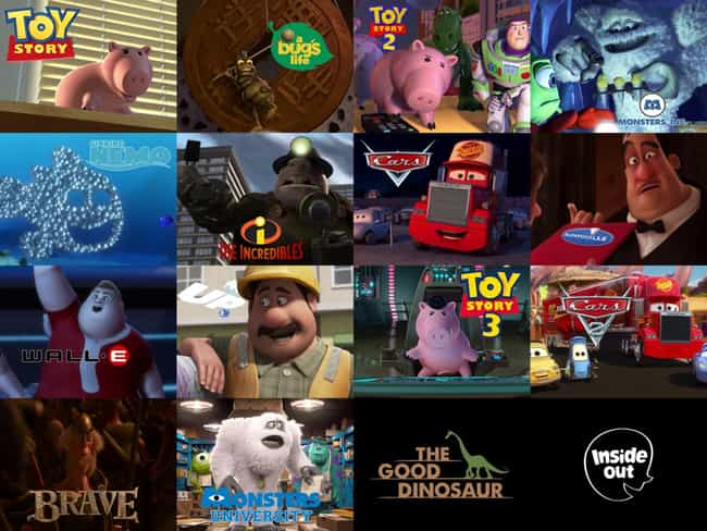 John Ratzenberger is listed (or ranked) 3 on the list 100 Easter Eggs from Every Pixar Movie