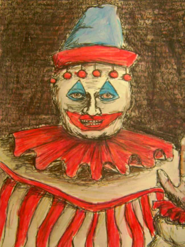 John Wayne Gacy is listed (or ranked) 1 on the list 19 Extremely Creepy and Disturbing Artworks by Serial Killers