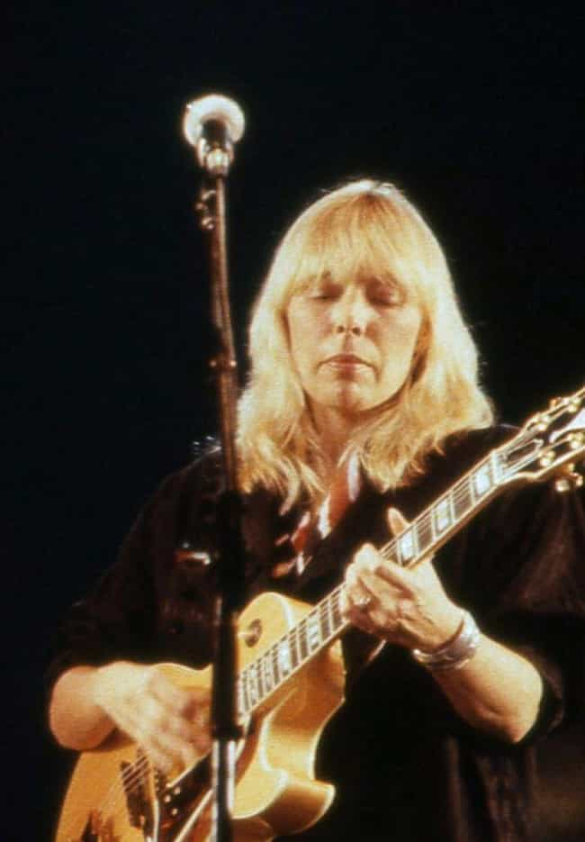 Joni Mitchell is listed (or ranked) 4 on the list Which Guitarist Are You Based On Your Zodiac Sign?